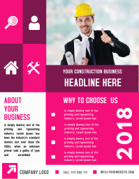 CONSTRUCTION COMPANY BUSINESS FLYER TEMPLATE