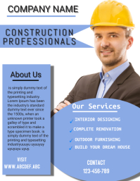 construction company flyer,small business fly