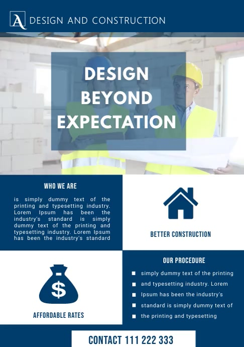 CONSTRUCTION COMPANY FLYER