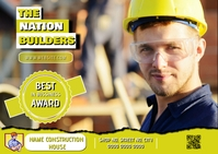 Construction company postcard front side desi Briefkaart template