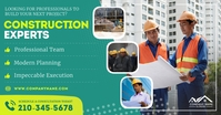 Construction experts Facebook shared Image delt Facebook-billede template