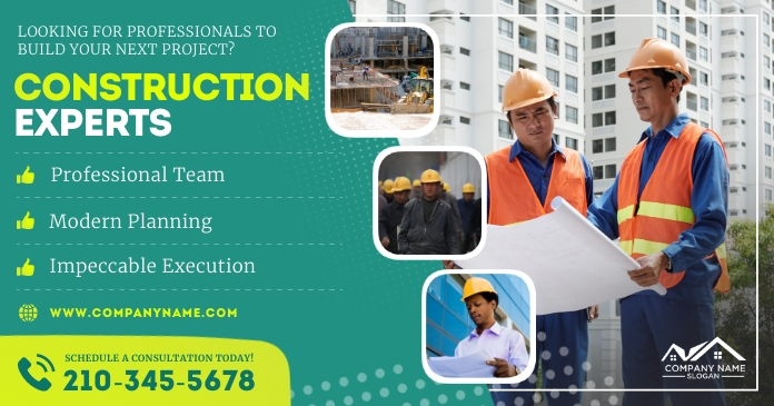 Construction experts Facebook shared Image template