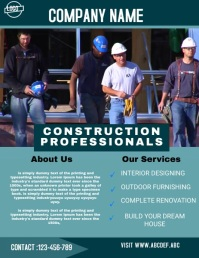 construction flyer,small business flyer Folheto (US Letter) template