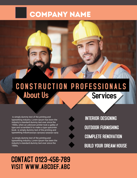 construction flyer,small business flyer template