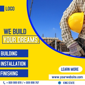 Construction flyer Instagram 帖子 template