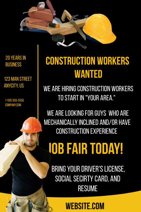 Construction Flyer Templates Free Yeniscale