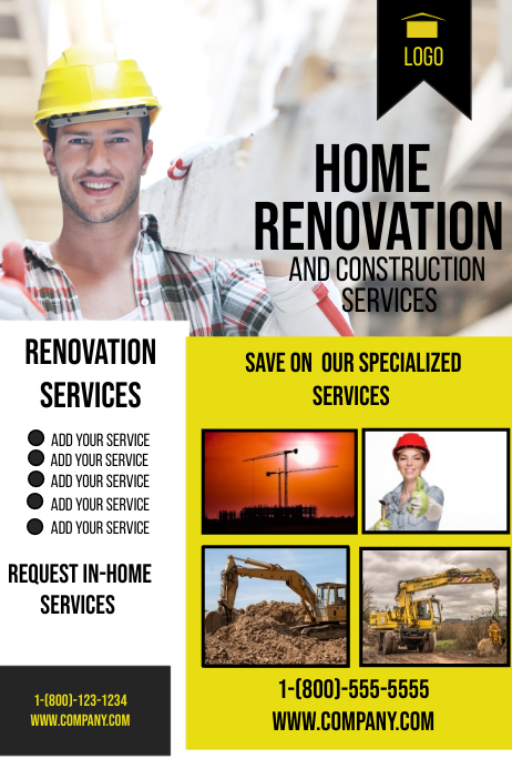 construction flyer template postermywall