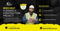 Construction project Facebook shared Image template