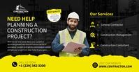 Construction project Facebook shared Image delt Facebook-billede template