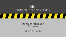 Construction Related Business Card template