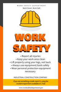 Construction Safety Poster Template