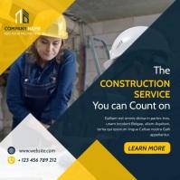 construction services advertisement video ins Instagram-bericht template
