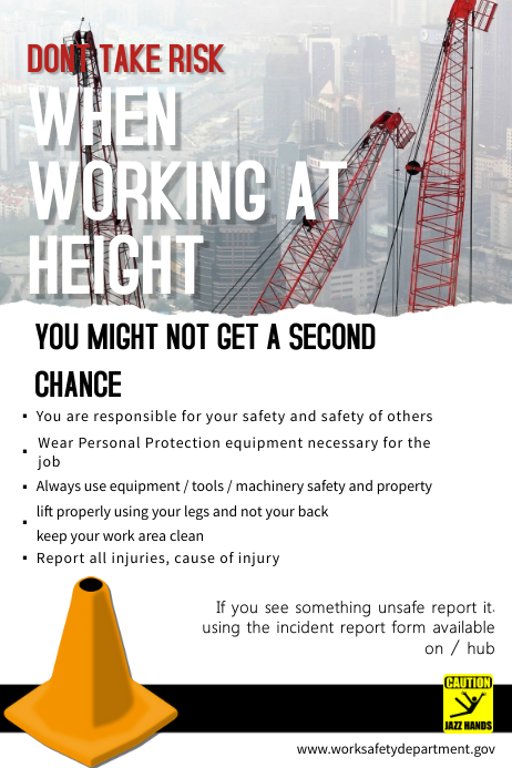 construction site safety poster template postermywall