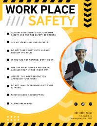 Construction Site Safety Guidelines Poster