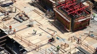 Construction site workers working YouTube Thumbnail template