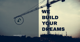 Construction Wallpaper Flyer Annuncio Facebook template