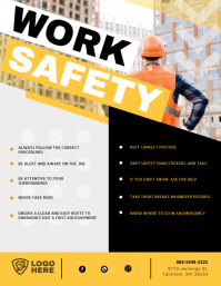 Construction Work Safety Guidelines Flyer