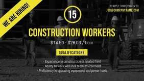 Construction worker Hiring Facebook Cover Video