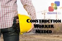Constructon Worker Flyer Этикетка template