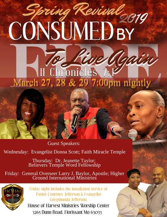 Consumed By Fire Spring Revival