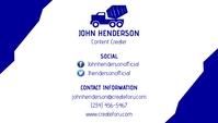 Contact Business Card Tarjeta de Presentación template