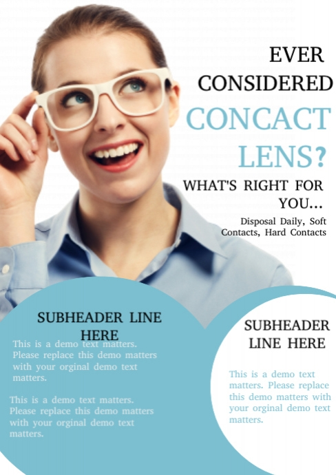 contact lens template