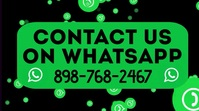 Contact Us on WhatsApp Video Template Pantalla Digital (16:9)