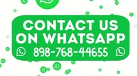 Contact Us on WhatsApp Video Template Affichage numérique (16:9)