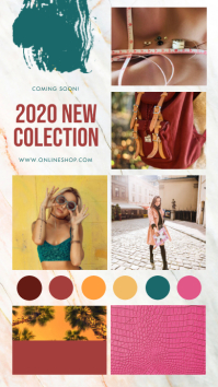 Contemporary Fashion Moodboard Instagram Stor template
