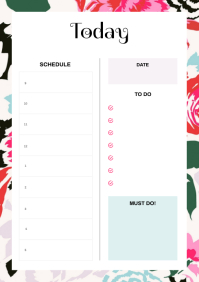 Contemporary Floral Themed Planner
