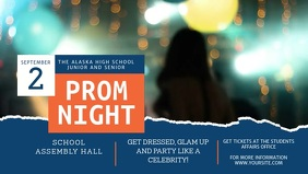 Contemporary Prom Night Invitation Facebook C template