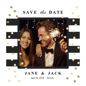 Contemporary Save the Date Square Video