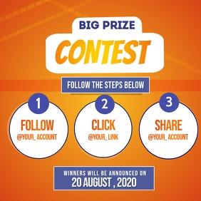 Contest Instagram Post template