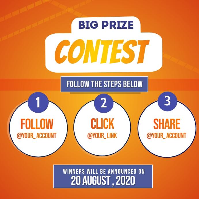 Contest Instagram 帖子 template