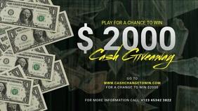 Contest Giveaway cash facebook ad