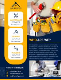 Contractor Flyer Design template