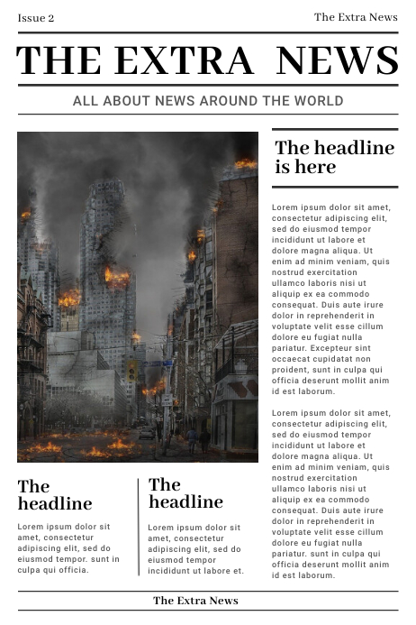 Conventional Newspaper Layout Poster template