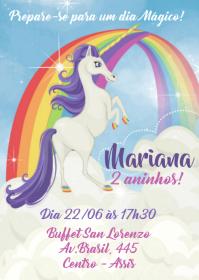 Convite Festa Unicórnio - 001