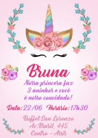 Convite Festa Unicórnio - 012
