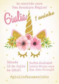 Convite Festa Unicórnio - 017