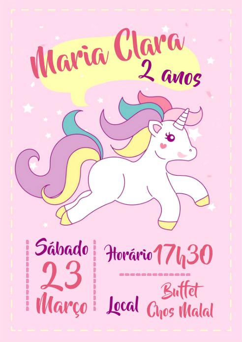 Convite Festa Unicórnio - 018