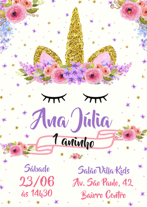Convite Festa Unicórnio - 020