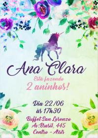 Convite Festa Unicórnio - 024