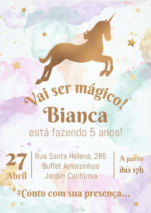 Convite Festa Unicórnio - 025