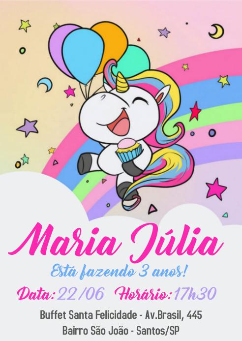 Convite Festa Unicórnio - 026