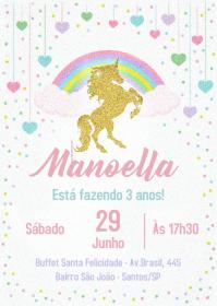 Convite Festa Unicórnio - 027