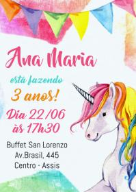 Convite Festa Unicórnio - 028