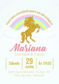 Convite Festa Unicórnio - 029