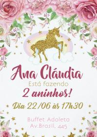 Convite Festa Unicórnio - 030