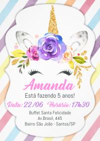 Convite Festa Unicórnio - 032